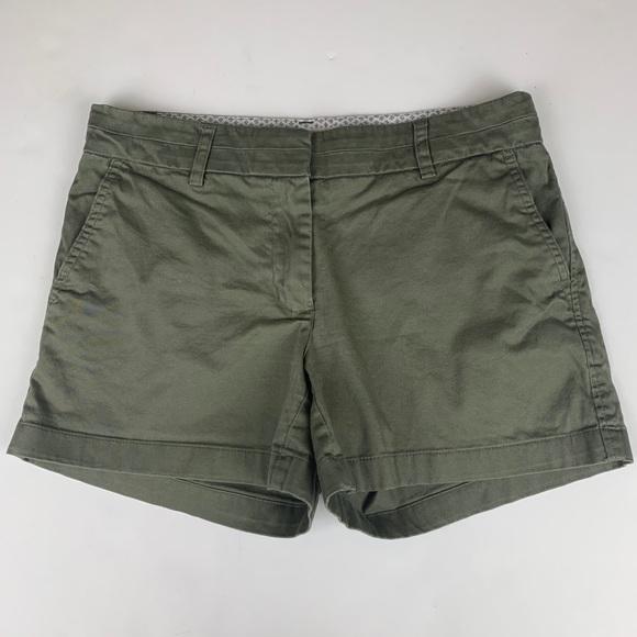 Cambridge Dry Goods Womens Khaki Green Shorts - 4